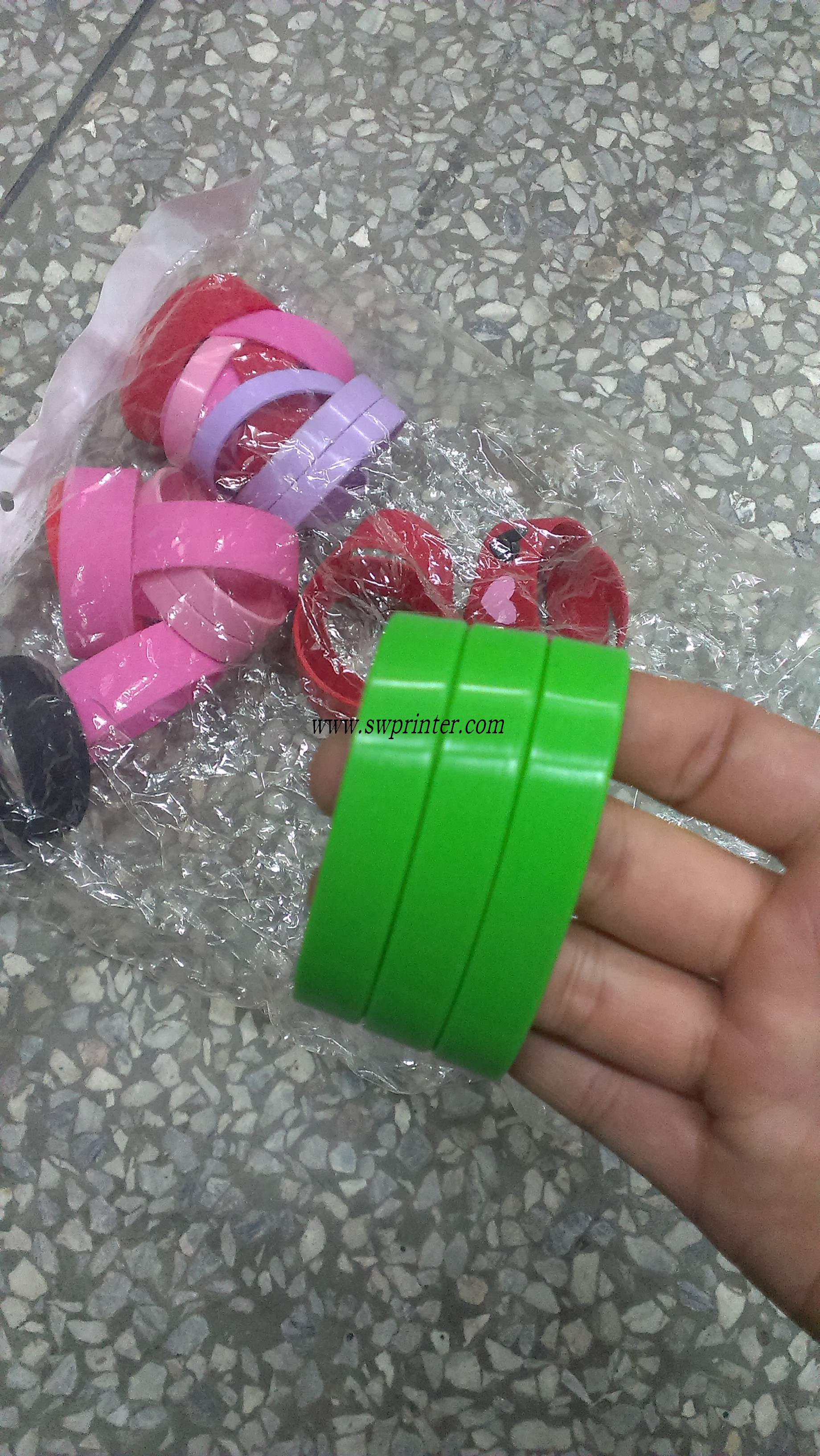 Silicone wristbands printer