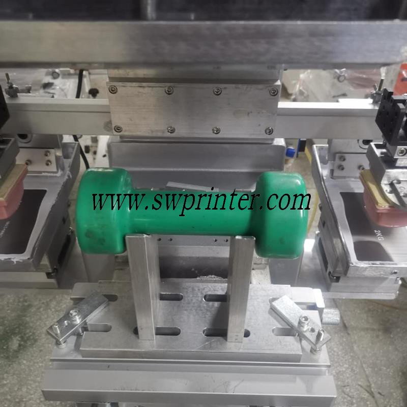 Dumbbell size printing machine