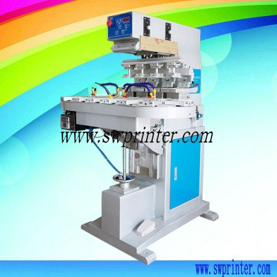 4 color pad printing machine with conveyor,pad printer for toys