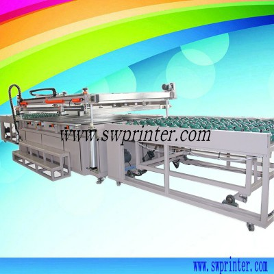 Automatic large glass sheet screen printer