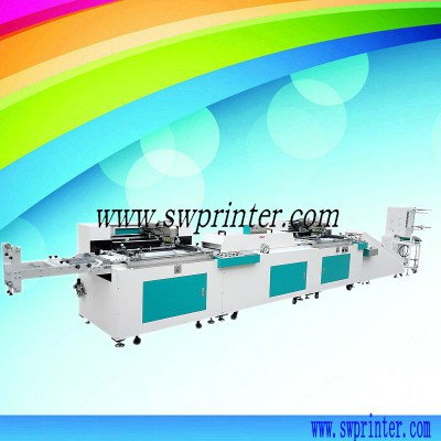 Automatic 2 color roll to roll screen printer for textile label