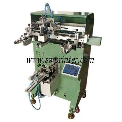 Glass bottle screen printing machine,how to print on a glass bottle?