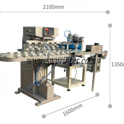 Auto 6 color pad printing machine