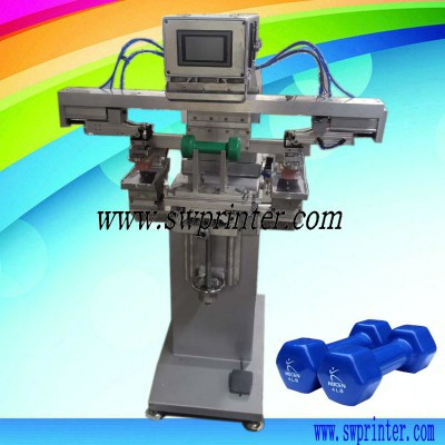 Dumbbell size printing machine,pad printer for dumbbell